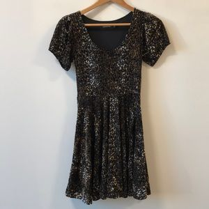 MINKPINK leopard velvet dress